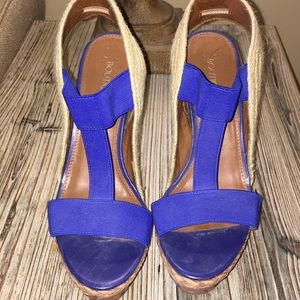 Blue strap wedges